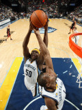 Miami Heat v Memphis Grizzlies: Zach Randolph and Sam Young Photographic Print by Joe Murphy