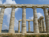 Doric Columns, Remains of the Poseidon Temple Photographic Print by Richard Nowitz