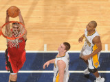 Toronto Raptors v Indiana Pacers: Linas Kleiza, Tyler Hansbrough and A. J. Price Photographic Print by Ron Hoskins