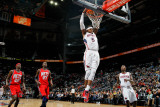 New Jersey Nets v Atlanta Hawks: Josh Smith, Jamal Crawford, Anthony Morrow and Johan Petro Photographic Print by Kevin Cox