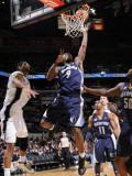 Memphis Grizzlies v San Antonio Spurs: Tony Allen and Tim Duncan Photographic Print by D. Clarke Evans