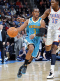 New Orleans Hornets v Oklahoma City Thunder: Chris Paul and Kevin Durant Photographic Print by Layne Murdoch