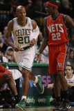New Jersey Nets v Boston Celtics: Ray Allen and Anthonly Morrow Photographic Print by  Elsa