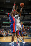 Detroit Pistons v Memphis Grizzlies: Zach Randolph and Ben Wallace Photographic Print by Joe Murphy