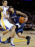 Minnesota Timberwolves v Golden State Warriors: Michael Beasley and Lou Amundson Photographic Print by Ezra Shaw