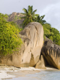 Boulders and Palm Trees on  Anse-Source D'Argent Beach Photographic Print by Alison Wright