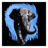 Elephant Walking Giclee Print