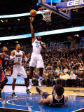 Atlanta Hawks v Orlando Magic: Brandon Bass Photographic Print by Sam Greenwood