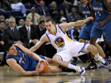 Minnesota Timberwolves v Golden State Warriors: Darko Milicic and Lou Amundson Photographic Print by Ezra Shaw