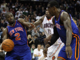 New York Knicks v Charlotte Bobcats: Raymond Felton, Amare Stoudemire and Tyrus Thomas Photographic Print by Streeter Lecka