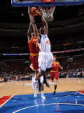 Cleveland Cavaliers  v Philadelphia 76ers: Elton Brand and J.J. Hickson Photographic Print by Jesse D. Garrabrant