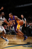 Los Angeles Lakers v Washington Wizards: Shannon Brown and Gilbert Arenas Photographic Print by Ned Dishman