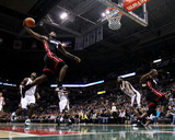 Miami Heat v Milwaukee Bucks: LeBron James Fotoprint van Jonathan Daniel