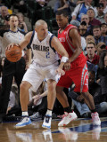Houston Rockets v Dallas Mavericks: Jason Kidd and Kyle Lowry Photographic Print by Glenn James