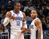 Memphis Grizzlies v Orlando Magic: Dwight Howard and Jameer Nelson Photographic Print by Fernando Medina