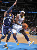 Memphis Grizzlies v Denver Nuggets: Ty Lawson and Mike Conley Photographic Print by Garrett Ellwood