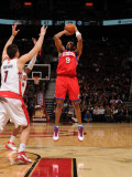 Philadelphia 76ers v Toronto Raptors: Andre Iguodala and Andrea Bargnani Photographic Print by Ron Turenne