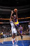 Los Angeles Lakers v Philadelphia 76ers: Lamar Odom Photographic Print by Jesse D. Garrabrant
