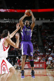 Sacramento Kings v Houston Rockets: Carl Landry and Luis Scola Photographic Print by Bill Baptist