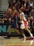 Atlanta Hawks v Toronto Raptors: Joe Johnson and DeMar DeRozan Photographic Print by Ron Turenne