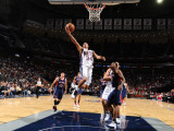 Atlanta Hawks v New Jersey Nets: Devin Harris and Joe Johnson Photographic Print by Jesse D. Garrabrant