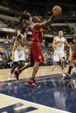Cleveland Cavaliers  v Indiana Pacers: Antawn Jamison and Roy Hibbert Photographic Print by Ron Hoskins