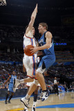 Minnesota Timberwolves v Oklahoma City Thunder: Luke Ridnour and Nick Collison Photographic Print by Layne Murdoch