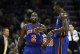 New York Knicks v Charlotte Bobcats: Amare Stoudemire and Raymond Felton Photographic Print by Streeter Lecka