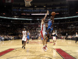 Oklahoma City Thunder v Toronto Raptors: JeffGreen and AndreaBargnani Photographic Print by Ron Turenne