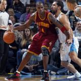 Cleveland Cavaliers  v New Orleans Hornets: Antawn Jamison and Peja Stojakovic Fotografisk tryk af Layne Murdoch