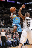 New Orleans Hornets v San Antonio Spurs: Chris Paul and Tony Parker Photographic Print by D. Clarke Evans