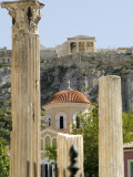 A View of the Acropolis from the Roman Agora over the Anafiotika Area Photographic Print by Richard Nowitz