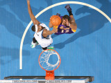 Los Angeles Lakers v Minnesota Timberwolves: Corey Brewer and Shannon Brown Photographic Print by David Sherman
