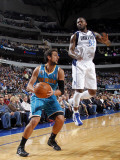 New Orleans Hornets v Dallas Mavericks: Marco Belinelli and DeShawn Stevenson Photographic Print by Layne Murdoch