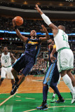 Denver Nuggets v Boston Celtics: Chauncey Billups and Glen Davis Photographic Print by Brian Babineau