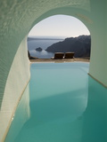A Swimming Pool under an Arch Overlooking the Aegean Sea Photographic Print by Richard Nowitz