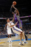 Phoenix Suns v Oklahoma City Thunder: Hakim Warrick and Nick Collison Photographic Print by Layne Murdoch