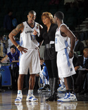 Austin Toros v Texas Legends: Nancy Lieberman, Antonio Daniels and Justin Dentmon Photographic Print by Layne Murdoch