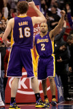 Los Angeles Lakers v Los Angeles Clippers: Derek Fisher and Pau Gasol Photographic Print by Stephen