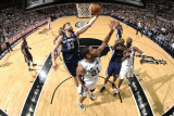 Memphis Grizzlies v San Antonio Spurs: Marc Gasol and Tim Duncan Photographic Print by D. Clarke Evans