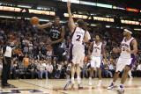 Memphis Grizzlies v Phoenix Suns: Rudy Gay and Goran Dragic Photographic Print by  Christian