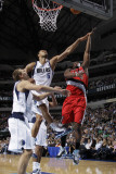 Portland Trail Blazers v Dallas Mavericks: Wesley Matthews and Tyson Chandler Photographic Print by Danny Bollinger
