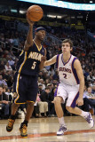 Indiana Pacers v Phoenix Suns: T.J. Ford and Goran Dragic Photographic Print by Christian Petersen