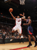 Atlanta Hawks v Toronto Raptors: Leandro Barbosa and Joe Johnson Photographic Print by Ron Turenne