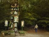 A Roadside Shrine with Catholic Saints on a Druidic Sacred Oak Tree Photographic Print by Jim Richardson