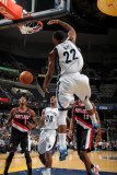 Portland Trail Blazers v Memphis Grizzlies: Rudy Gay and Marcus Camby Photographic Print by Joe Murphy
