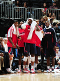 Washington Wizards v Atlanta Hawks: Joe Johnson, Josh Smith and Marvin Williams Photographic Print by Scott Cunningham