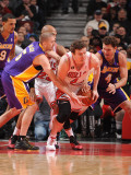 Los Angeles Lakers v Chicago Bulls: Luke Walton, Steve BlakeOmer Asik Photographic Print by Andrew Bernstein