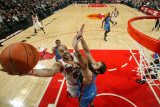 Oklahoma City Thunder v Chicago Bulls: Carlos Boozer and Nenad Krstic Photographic Print by Joe Murphy