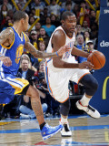 Golden State Warriors v Oklahoma City Thunder: Kevin Durant and Monta Ellis Photographic Print by Layne Murdoch